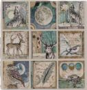 Stamperia - Magna Carta Printed Sheet 12x12 Cosmos Cards
